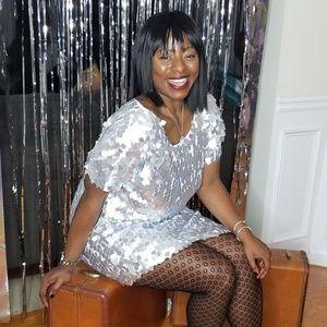Brian Lichtenberg Dresses - Silver Party Dress
